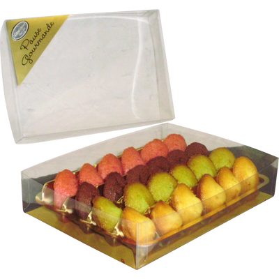 Assortiment mini madeleine, ASTRUC PATISSERIE, boîte transparente 90g
