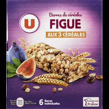 Barres de céréales figue U, boîte contenant 6 barres de 125g