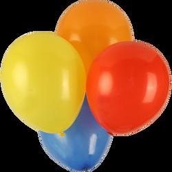 Ballons de baudruche, 50 unités, coloris assortis