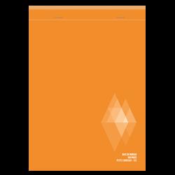 Bloc notes non perforé U, 5x5, 14,8x21 cm, 160 pages