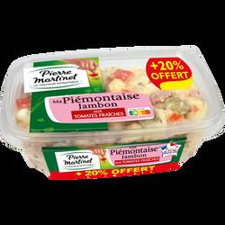 Piémontaise aux tomates fraîches et au jambon PIERRE MARTINET 500g+20%offert