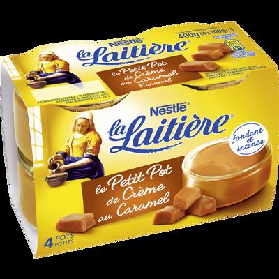 Dessert lacté aux oeufs au caramel Petit pot crème LA LAITIERE, 4x100g