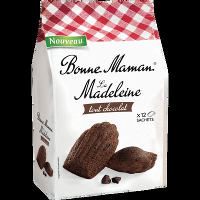 Madeleines tradition tout chocolat BONNE MAMAN, paquet de 300G