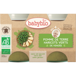 Pot pomme de terre haricots verts BABYBIO, dès  4 mois, 2x130g