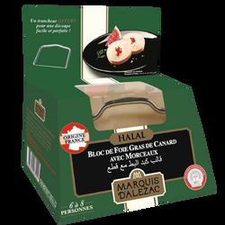 Bloc foie gras canard 30% morceaux+lyre halal LABEYRIE, 290g