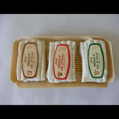 Mini-briques aux laits pasteurisés FROMAGERIE DE JUSSAC, 3x60g