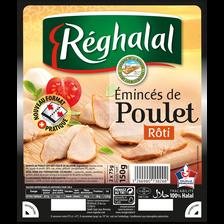 Emincés de poulet rôti Réghalal HALAL 150g