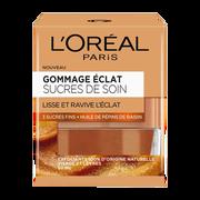 L'Oréal Gommage Éclat Aux 3 Sucres Fins Et À L'huile De Pépin De Raisin Glow L'oreal Paris, Pot De 50ml