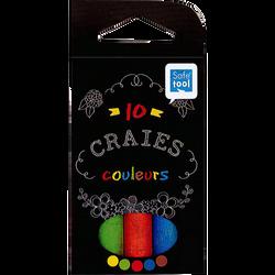 Craie SAFETOOL, 10 unités, coloris assortis
