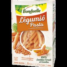 Penne lentilles corail et carottes BONDUELLE, 250g