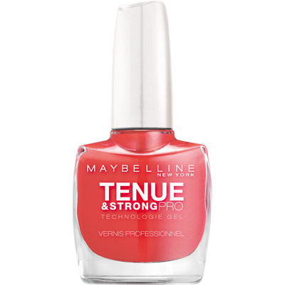 Vernis à ongles tenue & strong rose salsa 490 MAYBELLINE, nu