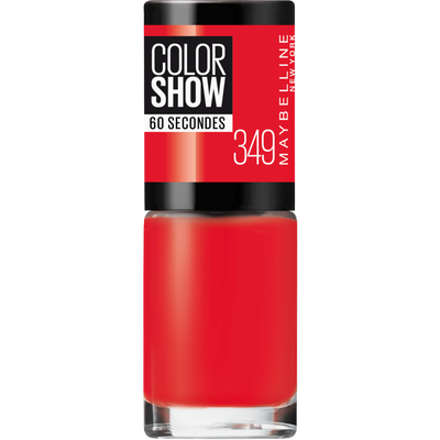Vernis à ongles colorshow 349 power red MAYBELLINE, nu