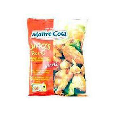 Manchons et ailerons de poulet rôti natures Wings Party MAITRE COQ, sachet de 1kg
