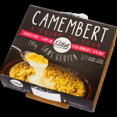 Camembert à cuire au four lait pasteurisé GILLOT , 22%mg, 240g