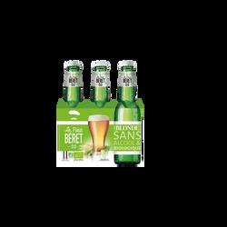 Le Petit Beret blonde sans alcool 0.0 Bio pack 3x33cl