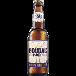 Bière blonde LA GOUDALE Circus Triple 9° bouteille de 33cl