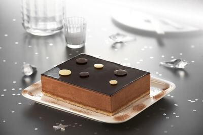 Croustillant chocolat décongelé, 4 parts, 500g