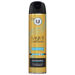 Laque fixation normale BY U, atomiseur de 300ml