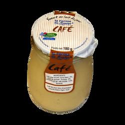 Yaourt entier brassé au lait du jour café LA FERME DU MANEGE, 180g