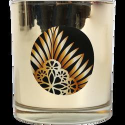 Bougie U Maison contenant Or/blanc parfum pomme cannelle