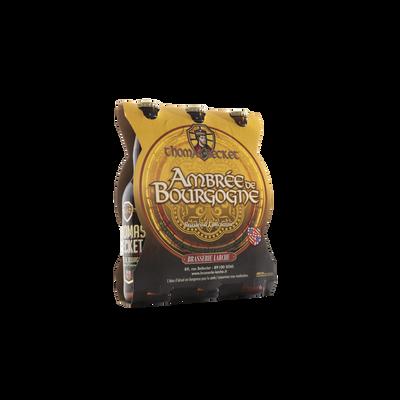 Bière ambrée THOMAS BECKET 6.5°, pack de 3x33cl