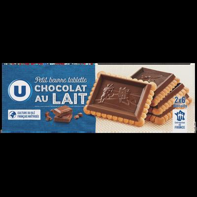Petit Beurre tablette chocolat lait U, paquet de 150g