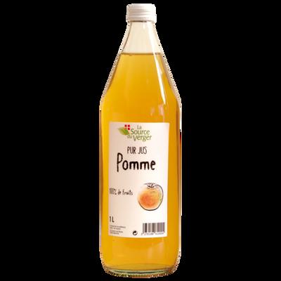Jus de pomme clair LA SOURCE DU VERGE, bouteille 1l