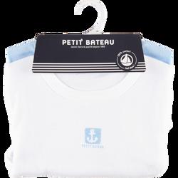 TEE-SHIRTS MANCHES LONGUES GARCON PETIT BATEAU  X2