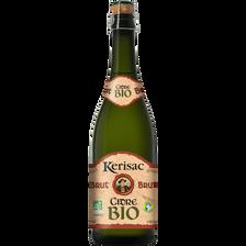 Cidre brut BIO KERISAC, 5°, bouteille de 75cl