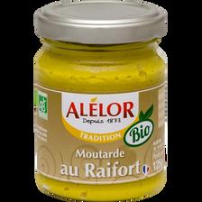 Moutarde au Raifort BIO ALELOR, pot en verre de 125g