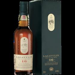 Scotch whisky classic single malt LAGAVULIN, 16 ans d'âge, 43°, bouteille de 70cl
