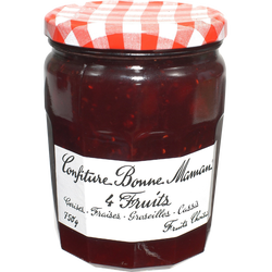 Confiture 4 fruits rouges BONNE MAMAN, 750g