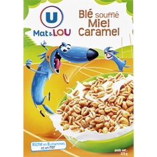 Blé miel caramel U MAT&LOU, paquet de 375g