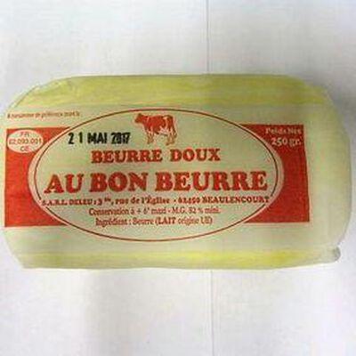 Beurre doux AU BON BEURRE, 250g