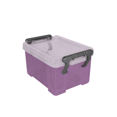 Boite de rangement, en polypropylène, 0,34l, violet, idéale pour ranger les accessoires de bureau