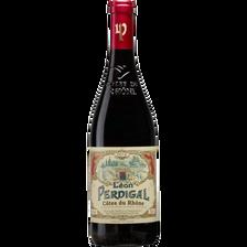 Vin rouge Côtes du Rhône AOP Léon Perdigal MRP, bouteille de 75cl