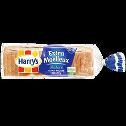 Pain de mie extra moelleux nature sans sucre ajoutée HARRYS, 500g