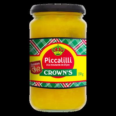 Sauce piccalilli à la moutarde de Dijon CROWN'S, 350g