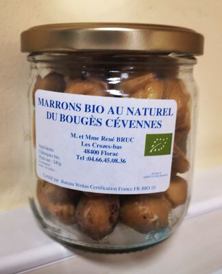 EARL DU BOUGES MARRONS BIO AU NATUREL 240G