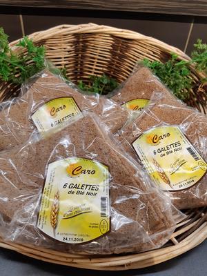 6 GALETTES de blé noir CARO