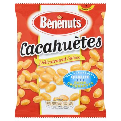 Cacahuètes grillées et salées BENENUTS, paquet de 220g