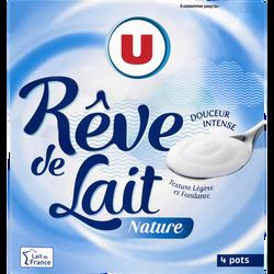 Spécialité laitière fermentée nature rêve de lait U, 4x125g