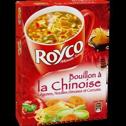 Bouillon légume chinoise Les Généreuses ROYCO, 3 sachets, 60cl