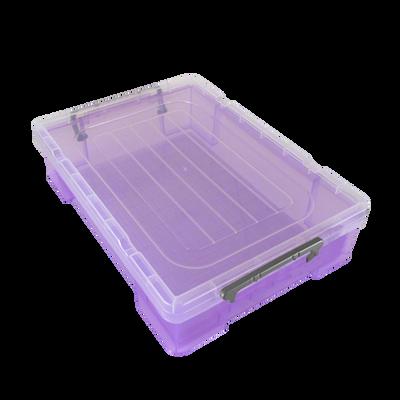 Boite de rangement, en polypropylène, 5,9l, violet, idéale pour rangerdeux ramettes de papiers A4