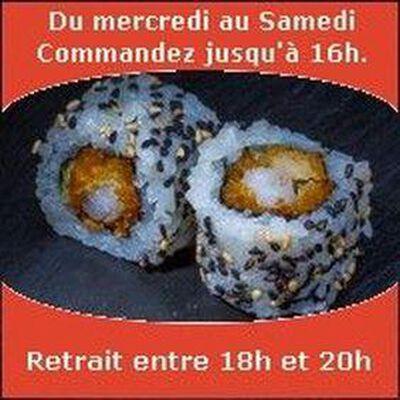 California rolls 6 pièces, Crevette tempura maison sauce spicy laitue, SUSHI MONT BLANC