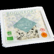 Roquefort AOP bio au lait cru de brebis 32%mg GABRIEL COULET tranches,100g