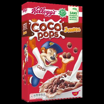 Céréales coco pops jumbos KELLOGG'S, paquet de 375g