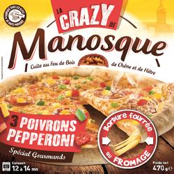 Pizza crazy pepperoni PIZZA DE MANOSQUE, 470g