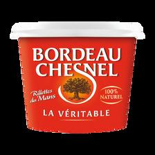 Véritable rillettes du Mans pur porc BORDEAU CHESNEL, pot de 220g