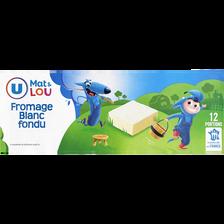 Fromage blanc fondu au lait pasteurisé U MAT & LOU, 30% de MG, x12, 240g